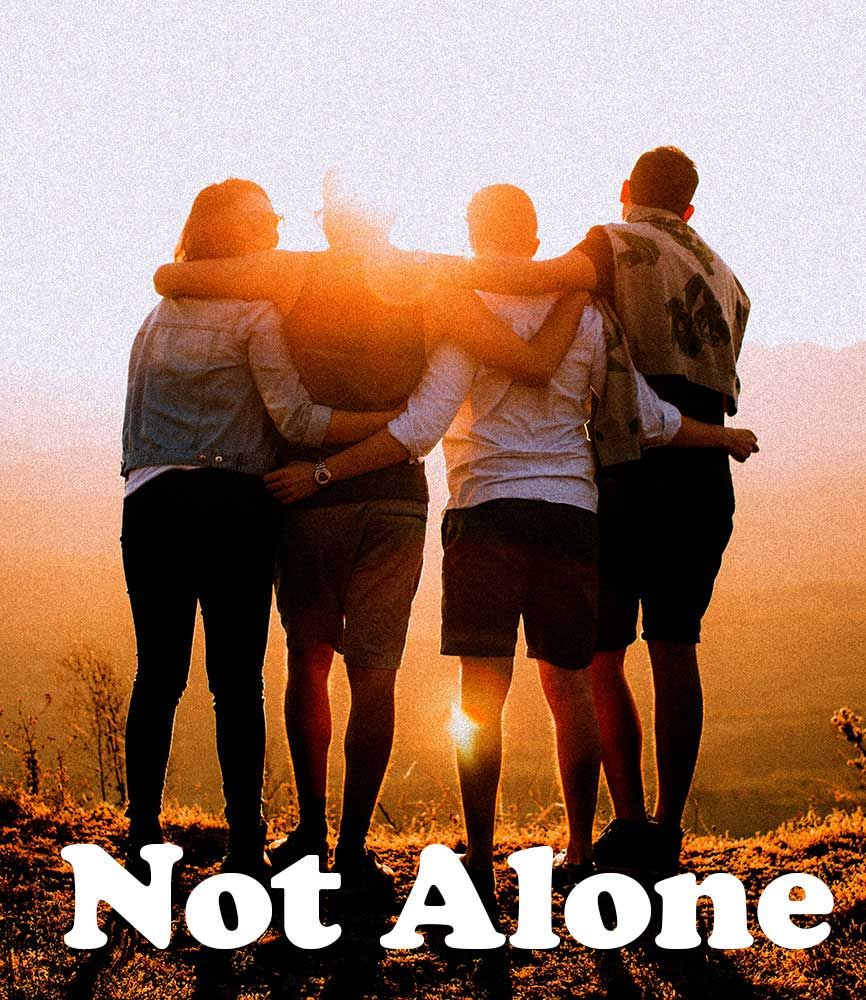"""Image for bite-sized sermon """"Not Alone"""""""