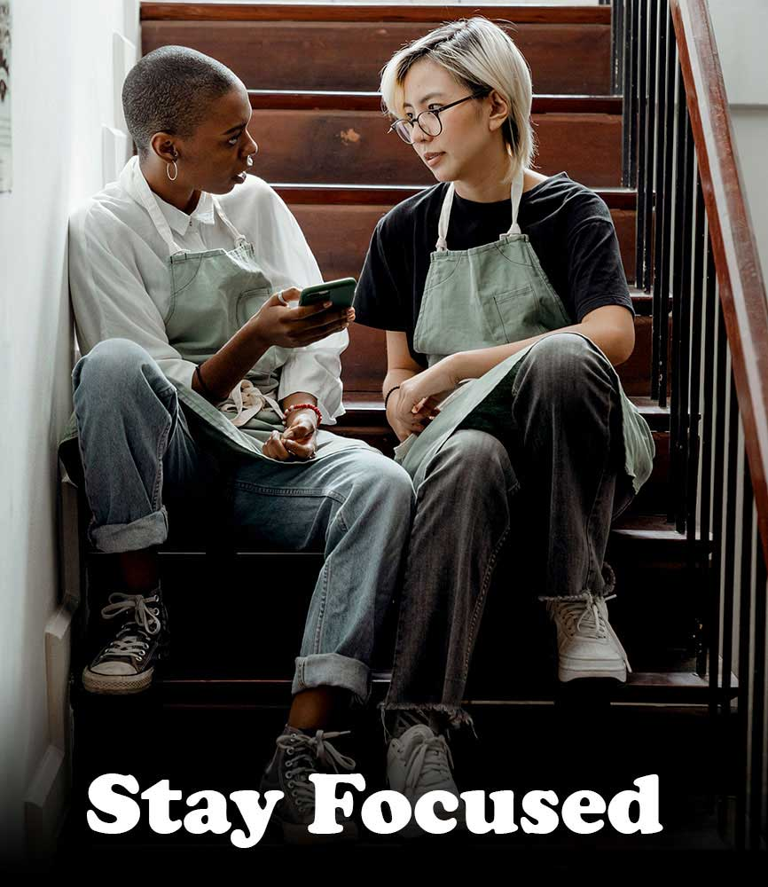 "Image for bite-sized sermon ""Stay Focused"""